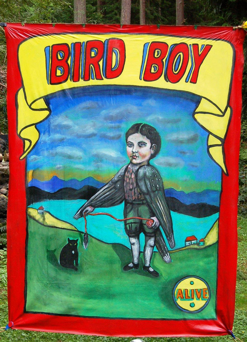bird boy circusbanner