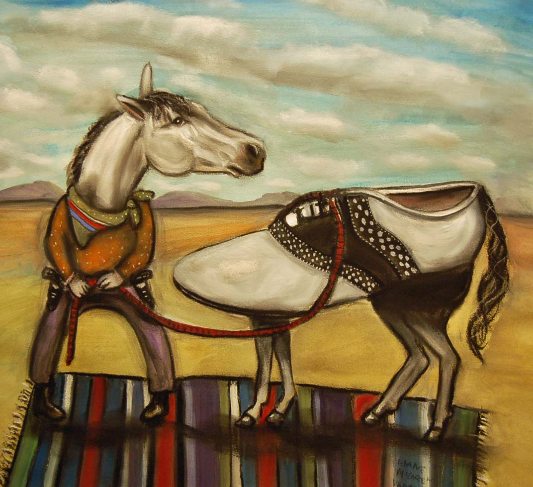 Liane McLaren Varnam, My Little Pony, mixed media on paper